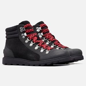 NWT Sorel Ainsley Conquest Black Waterproof Boot